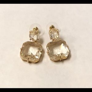 19k Gold Plated Brass Crystal Earring